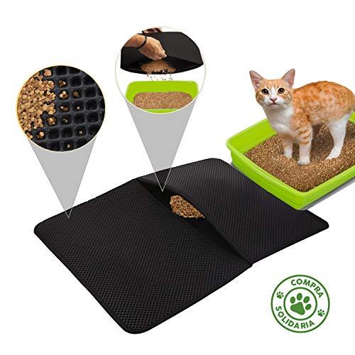 Beneficios: ¿Encuentras arena de gato por el pasillo de casa, en el comedor, en la cama? ¿Barres cada día y sigues encontrando arena?Descubre cómo funciona la alfombra para arenero Emukka: Su primera capa en forma de rejilla atrapa los granos de aren...