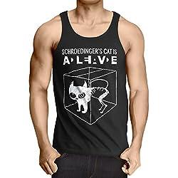 Gato de Schrödinger Camiseta de Tirantes para Hombre
