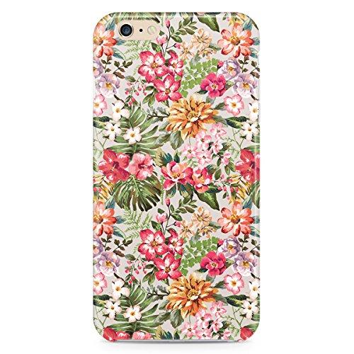 Queen Of Cases Coque pour Apple iPhone 5S Motif Bright Vintage Fleurs-Premium en plastique vert