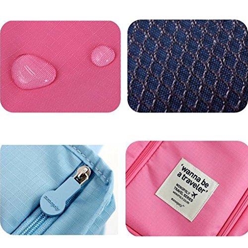 Miaomiaogo Portable Tote Schuhe Beutel Wasserdichte Aufbewahrungsbeutel Ver.3 Rosa