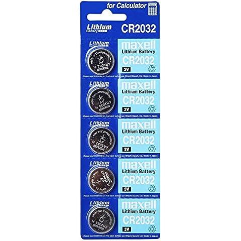 maxell CR2032 3 V batería de litio , 1PACK (5 piezas) baterías de un solo uso