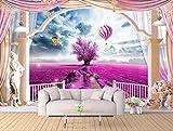 Weaeo Benutzerdefinierte Foto 3D Wand Papier Wohnkultur Lavendel Heißluftballon Römischen Balkon Hintergrund 3D Wandbilder Tapete Für Wände 3D-280X200cm