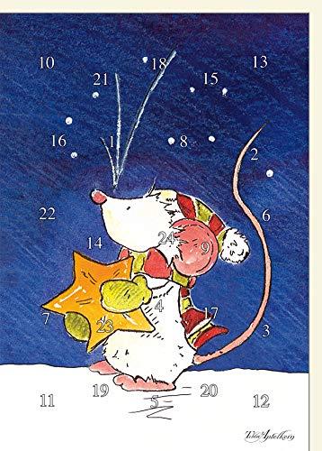 A4 XXL Adventskalenderkarte Tilda mit Stern -