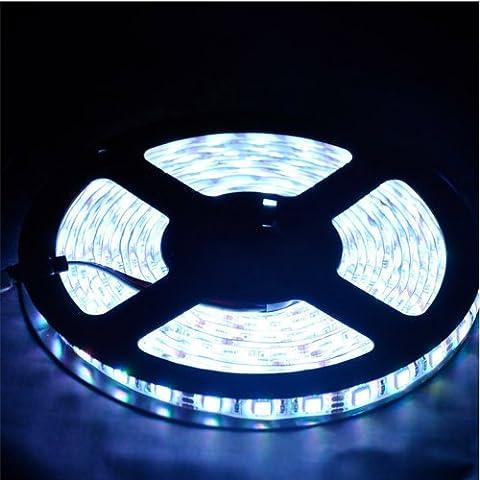 Forepin® IP65 Étanche LED Strip Bande SMD 3528 60LEDs/m Flexible Doux DIY Lampe Ruban Lumineux Strip Light Blanc - 1 Mètre