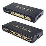 Incutex 4K HDMI Switch 4x1 Ultra HD 2160P Dolby True HD UHD 3D,...