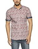 Colt Men's Casual Shirt (8907542822492_273112041_S_Dk Red)
