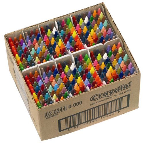 Crayola Assorted Crayons Classpack of 288 - 72 colours
