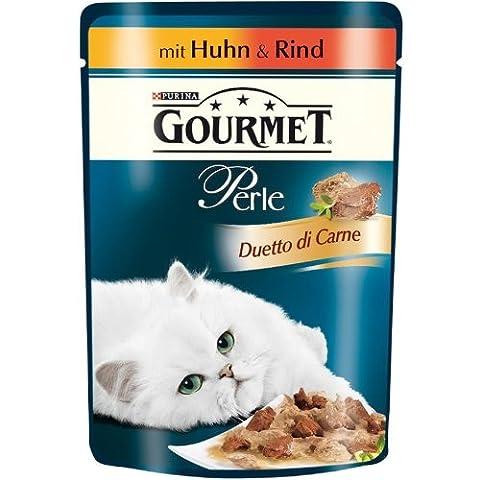Gourmet | Perle Duetto di Carne mit Huhn & Rind | 24 x 85 g