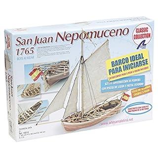 Artesanía Latina 18010 - Modell aus Holz: Schaluppe San Juan de Nepomuceno 1/25