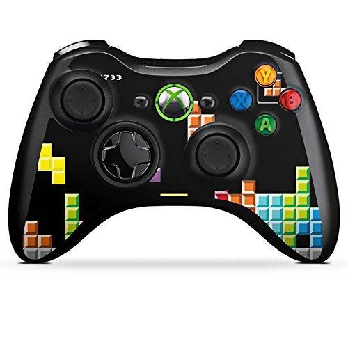 Microsoft Xbox 360 Controller Folie Skin Sticker aus Vinyl-Folie Aufkleber Game Spiel 8-Bit - Xbox Spiele 360 Tetris