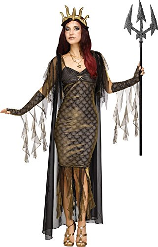 Kostüm Wasser Göttin - Königin der Meere Poseidon Damen-Kostüm Mythologie Göttin, Größe:S/M