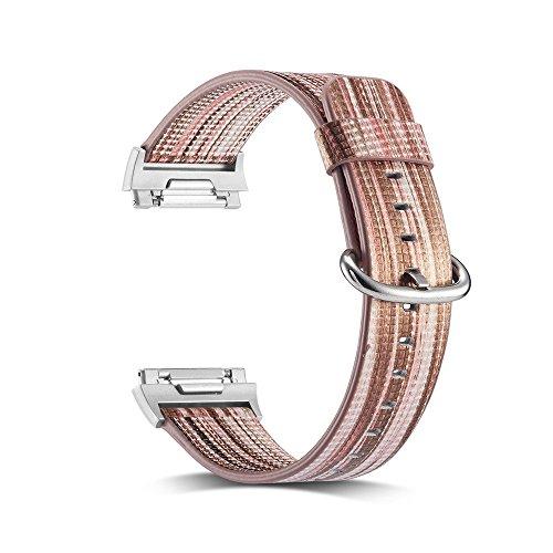 New Strap Rainbow Ersatzbänder mit rostfreiem Metallverschluss für Fitbit Lonic (Fitness-Tracker ist Nicht im Lieferumfang enthalten) ()