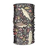 Jiayou J Unisex Boho Shark Fish-01 Multifunctional Bandanas Sweatband Elastic Turban Headwear Headscarf Beanie Kerchief