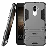 #7: Heartly Lenovo K8 Note Back Cover Graphic Kickstand Hard Dual Rugged Armor Hybrid Bumper Case - Metal Grey