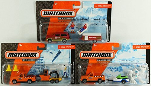 matchbox-hitch-n-haul-set-of-3-construction-kings-snow-attack-vacation-day-by-matchbox