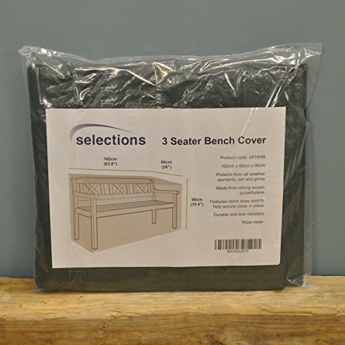 Selections GFH046 Waterproof Garden Bench Cover For 3 Seater Bench (1.6m)