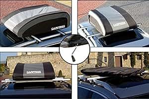 Carpriss 79051165 Coffre de toit pliable avec poignée 220 L/ 120 x 72 x 34 cm