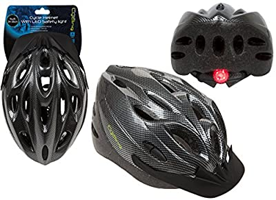 Shine Unisex Cycling Helmet,Adjustable Lightweight Bicycle Bike Mountain Road for Men and Women (BLACK WITH LED (MEDIUM)) by SHINE