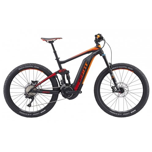 Vélo Electrique Giant Full-e+ 1 Black/red/orange