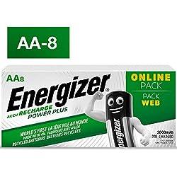 Piles AA rechargeables Energizer Recharge Power Plus, pack de 8