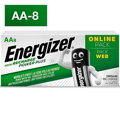 Energizer Power Plus Lot de 8 Piles Rechargeables AA