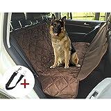 Hunde sitzbezug Autoschondecke, Wasserfestes Auto Hundedecke Anti-Rutsch Hunde Autodecke, Kofferraumschutz Hunde für Auto Van SUV, mit Ein Haustier Sicherheitsgurt