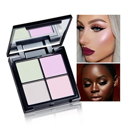 Allbesta Professionelle Highlighter Palette 4 Farben Hervorhebung Powder Contour Foundation Erhellen Gesicht Make-up -