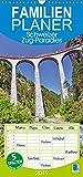 Schweizer Zug-Paradies (Wandkalender 2019 , 21 cm x 45 cm, hoch): Im Zug durch Schweizer Berge, Familienplaner 5 Spalten (Familienplaner, 14 Seiten ) (CALVENDO Mobilitaet)