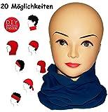 alles-meine.de GmbH Multifunktionstuch - Fleece -  Dunkel Blau  - Universal Größe - Schlauchscha..