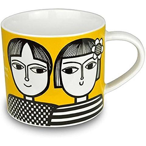 Jane Foster–Zodiac taza de porcelana china–Taza, diseño de signo de Géminis. Caja de Regalo