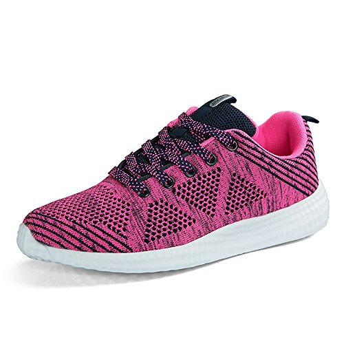 BRKVALIT Unisex-Erwachsene Sneakers Herren Damen Turnschuhe Freizeitschuhe Laufschuhe Sportschuhe Turnschuhe Hell rot