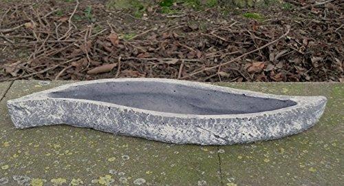 """Garten Deko Grabschmuck """" Pflanzschale WELLE *, massiver Steinguss, frostfest bis -30°C"""