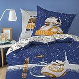 Star Wars BB8 Bettwäsche, 100% Baumwolle, Weiß, 140 x 200
