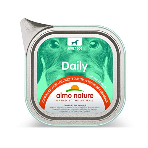 almo nature Daily Menu Dog No Grain Pate con Vitello e Carote, 100 g, Confezione da 32