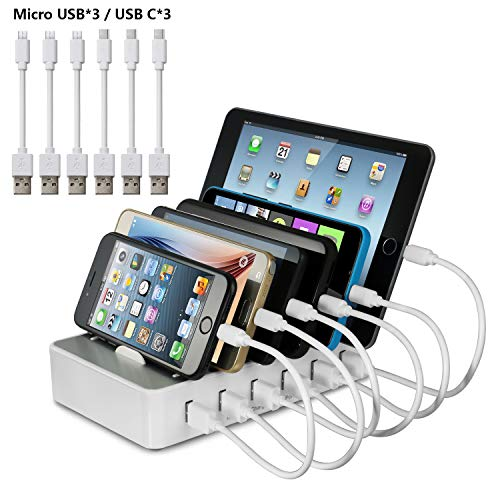 Station de Charge 6 port USB Chargeur...