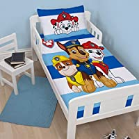 Paw Patrol Peek Children's Cot Bed Duvet Junior Toddler Bedding Duvet Cover | Chase, Marshal and Rubble Design