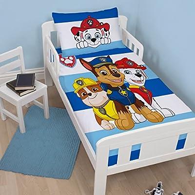 Paw Patrol Peek Children's Cot Bed Duvet Junior Toddler Bedding Duvet Cover | Chase, Marshal and Rubble Design