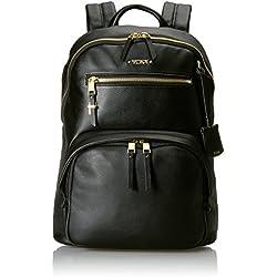 Tumi Voyageur Hagen Leather Backpack Mochila Tipo Casual, 36 cm, Negro (Black)