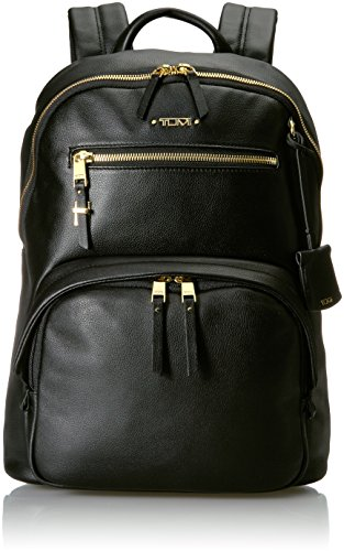 Tumi Voyageur Hagen Leather Backpack Mochila Tipo Casual, 36 cm, Negro (Black)