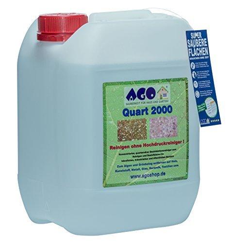 Quart ® 2000 Hochkonzentrat Grünbelagentferner 10 Liter Konzentrat. Gegen Algen und sonstige Grünbeläge auf jedem Material, Chlor- und Säurefrei BAuA-N25201