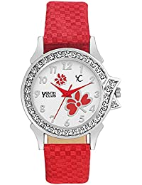 Youth Club New Arrival Redish White Dial Analog Watch For Girls-RED-LC