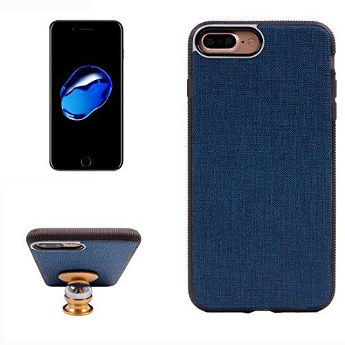 Hülle für iPhone 7 plus , Schutzhülle Für iPhone 7 Plus Denim Texture Magnetische Saug-Stil TPU + PC Paste Haut Schutzhülle Back Cover ,hülle für iPhone 7 plus , case for iphone 7 plus ( Color : Red ) Dark blue