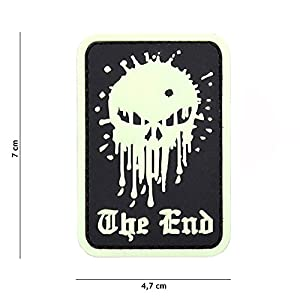 "Patch 3D PVC Punisher ""The End"" Fluorescent / Cosplay / Airsoft / Camouflage"
