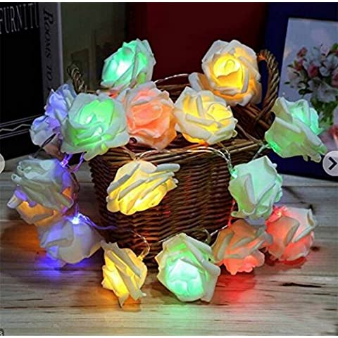 Zedtom 2.2M 20 LEDs Rose Lampadina Battery Operated LED Luce Decorativa Lampadina per Bar/Halloween/Natale/Matrimonio/Giardino/Cerimonia