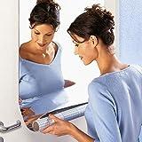 Rectangle Mosaic Tiles Décoratif Miroir Stickers muraux auto-adhésif Décor mur 60 cm * 100 cm pour armoires de bain Salon...