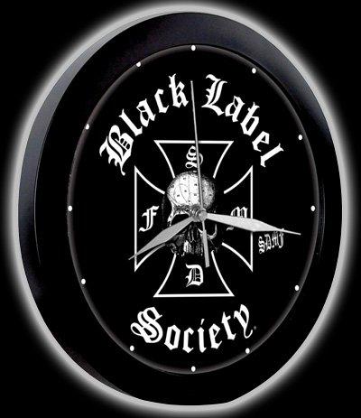 Black Label Society - Logo Black Wanduhr