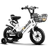 UOOGOU Kinderfahrrad Faltrad Rosa/Grün/Weiß Outdoor Fahrrad Mode Mountainbike Mit Wasserflaschenregal (Color : White, Size : 16 inch)