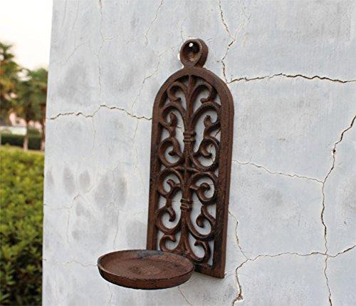 European-Style aus Gusseisen gewölbt-Kerze-Halter hohle Wand montierten Kerzenständer Retro-Garten hängenden Kerzenhalter