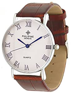 DK Analogue Off-White Dial Unisex Watch - PHI01287