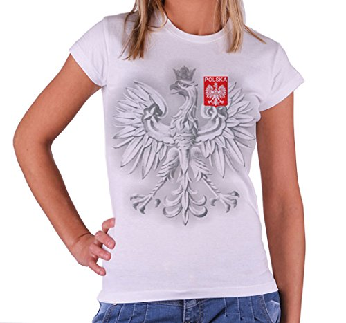 Quaint Point Polska Polen Trikot Damen T-Shirt KP10W (S)